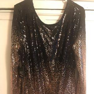 Charlotte Russe + Plus ombré sequin cocktail dress